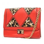 Leopard patch clutch