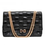 Gold chain textured handbag