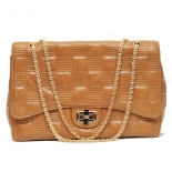 Gold chain textured handbag