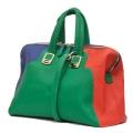 Colour block patch bag
