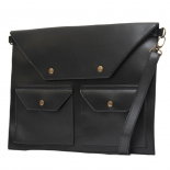 Double pocket envelope clutch