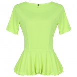 Neon lime Peplum top