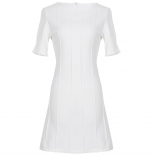 Pleated Work Dress