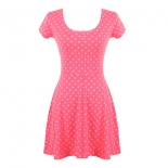 Neon Polkadot Skater dress