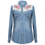 Rose Denim Shirt