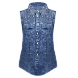 Denim Stud Stone Shirt