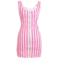 Zipper Stripe Bodycon Dress
