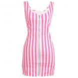 Zipper Stripe Bodycon Dress