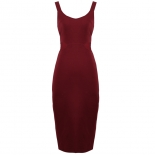 Waist cut out midi dress