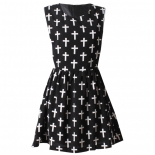 Holy cross print dress