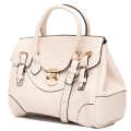 Double buckle strap tote bag