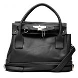          Classic black tote bag