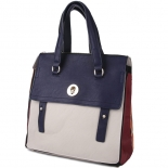 Colourblock satchel