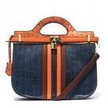 Contrast trim structured bag