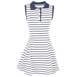 Stripe polo dress