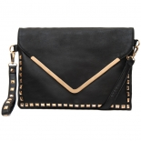 Stud metal flap clutch