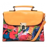 Watercolor floral bag