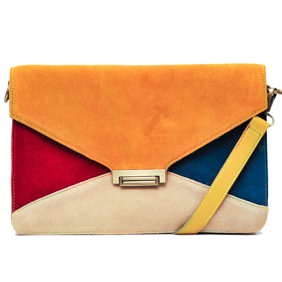 Colour block clutch