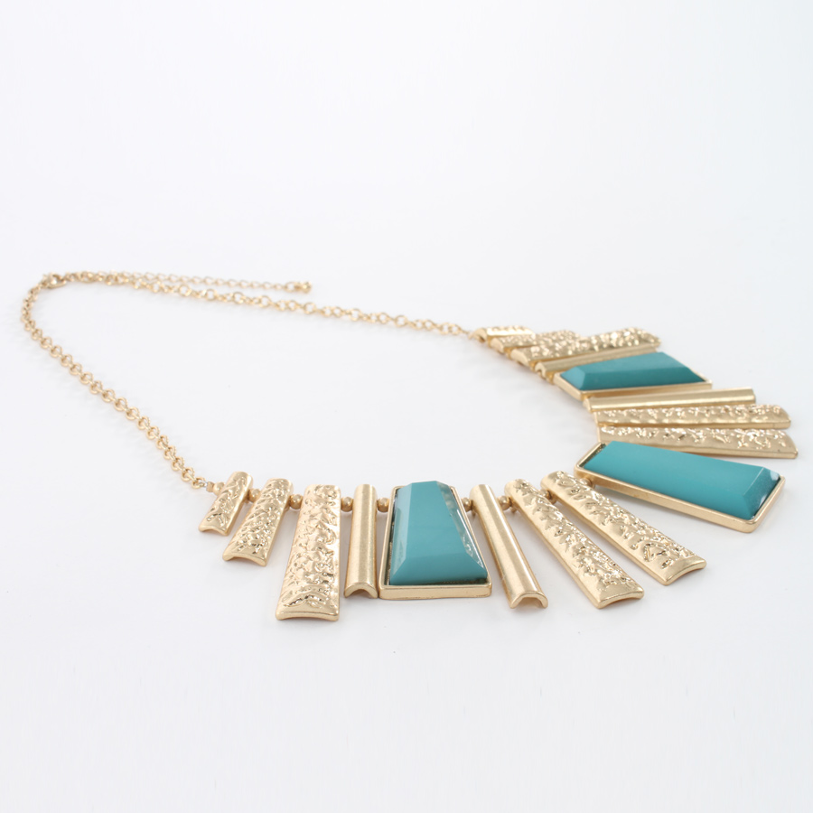 Rectangle Block Necklace